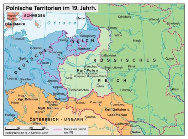 Zweite Polnische Republik eines Völkerbundes von abhängigen Staaten