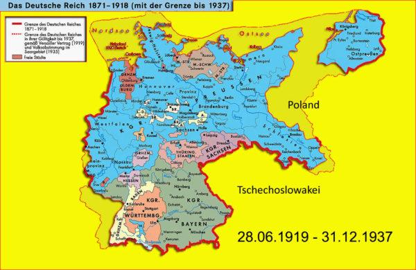 Besatzungsrechtliche Bedeutung der Grenzen Deutschlands zum 31. Dezember 1937
